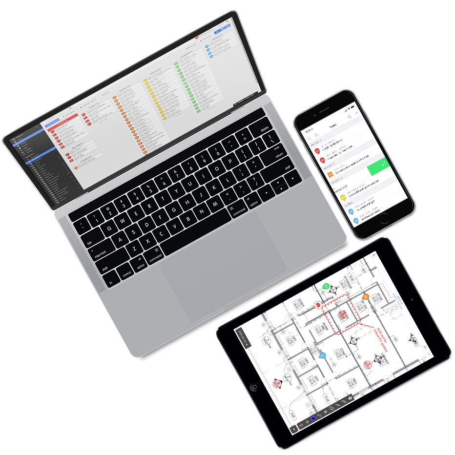 Flat devices mockup 932x932px new screenshots tasks ease of use markups
