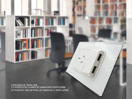 Cambre USB DOBLE BAUHAUS 00