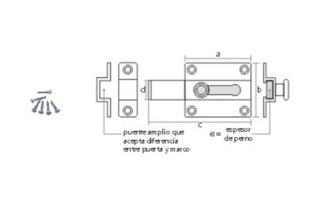 Ezio Dell'Avo Pasador reforzado con traba de posición descripción